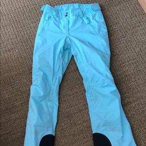 Women's Helly Hansen XS ski pants aqua color